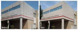 Commercial Power Washing Before and After