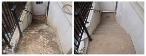 Concrete Power Washing Before and After