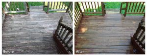Deck Power Washing Before and After
