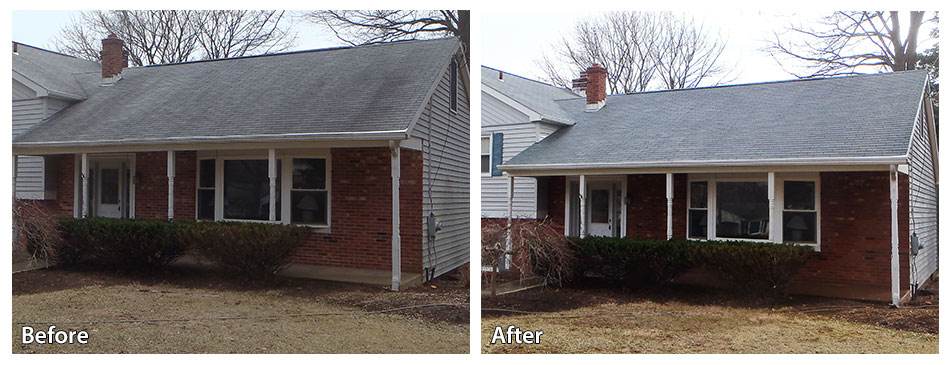 Roof Power Washing Before and After