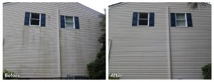 Siding Power Washing Before and After
