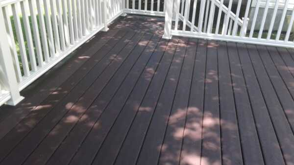 West Chester Deck After Pressure Washing