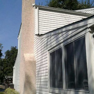 After Pressure Washing a Chimney