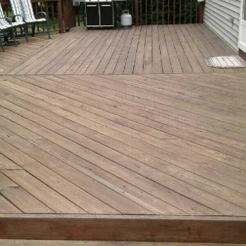 Before Power Washing Deck