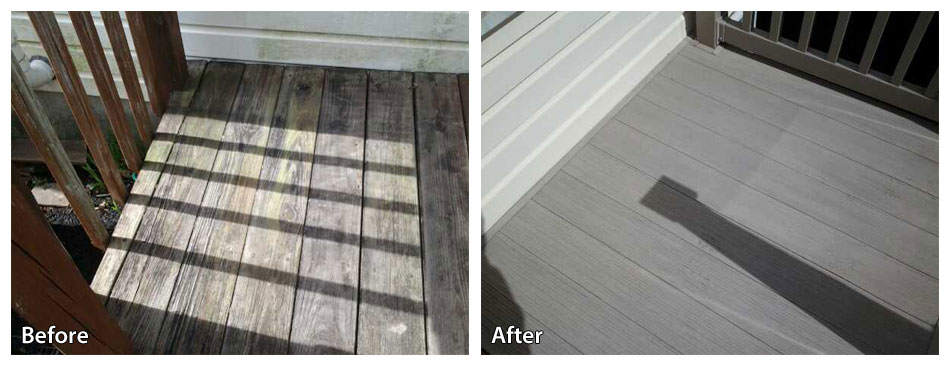 power washing a deck in conshocoken