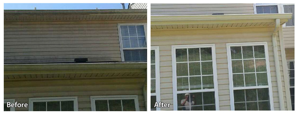 Before and after power washing siding in Pottstown