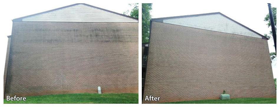Before and After Pressure Washing Siding