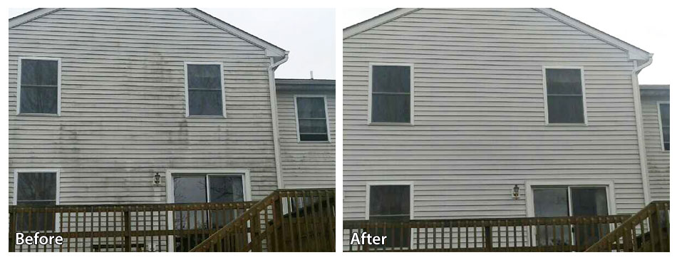 Before and After Power Washing Siding in Berwyn PA