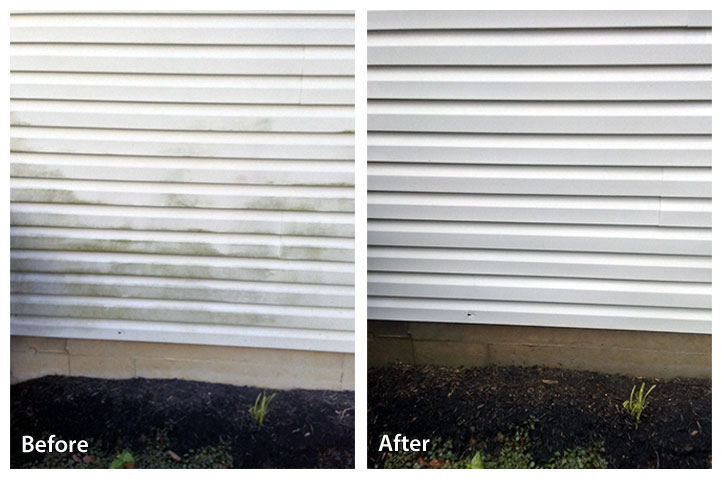 vinyl siding power washing