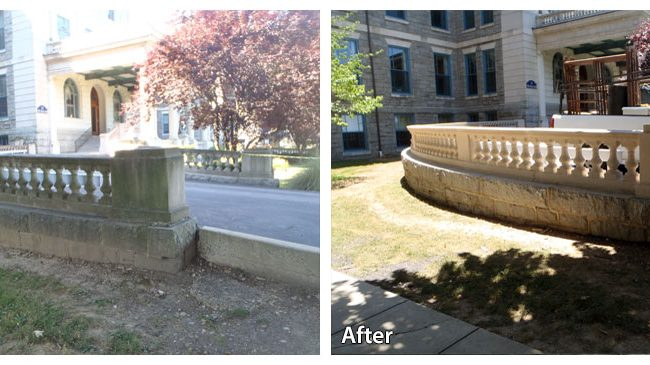 Rosemont College Before and After Pressure Washing