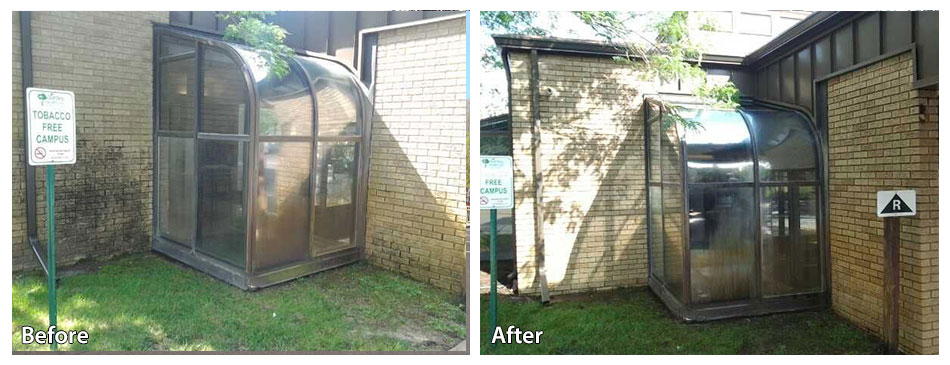 Green house before and after at a retirement community