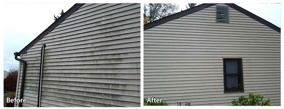 Before and after on siding